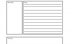 007 Impressive Note Taking Template Pdf High Definition  Free Cornell Example