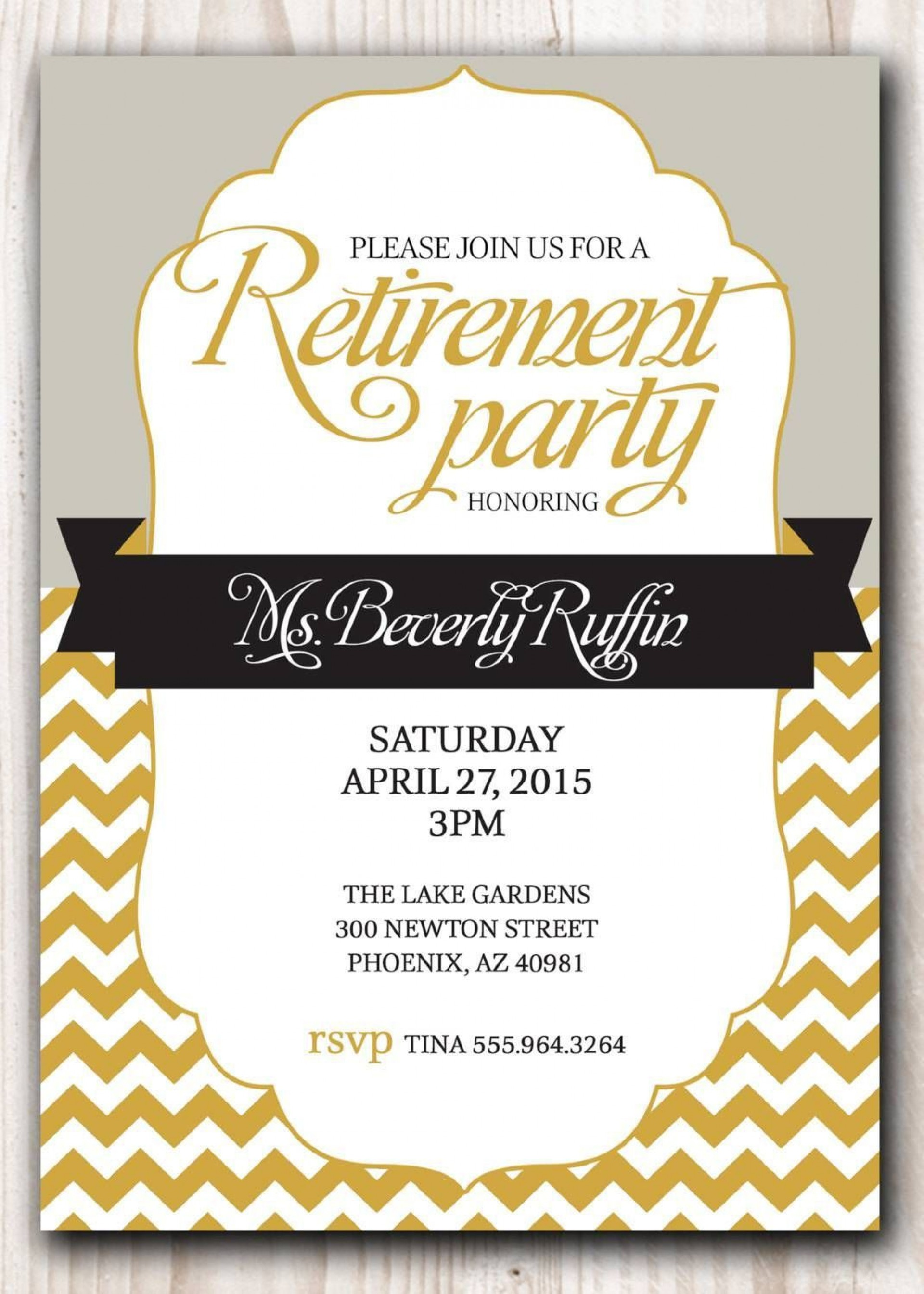007 Impressive Retirement Party Invitation Template Free Word Inspiration  M1920