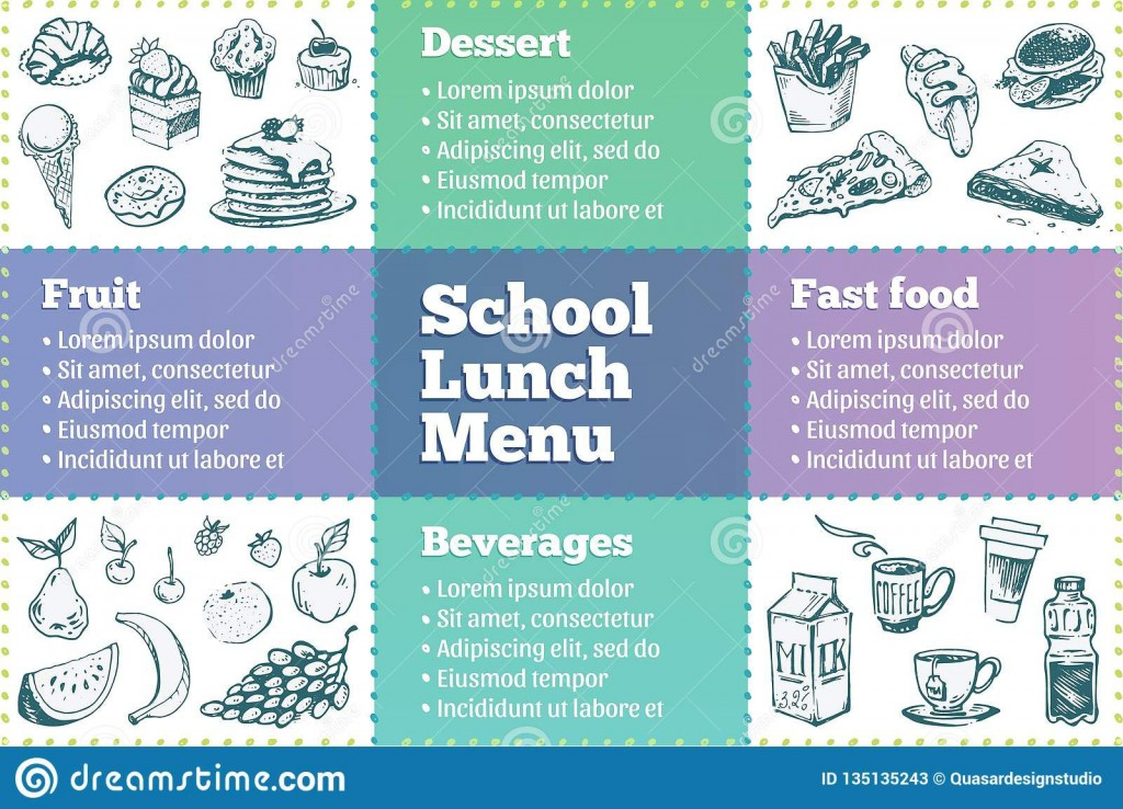 007 Impressive School Lunch Menu Template High Resolution  Monthly Free Printable BlankLarge