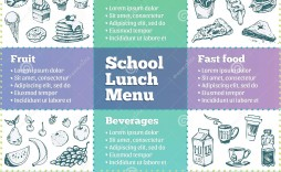 007 Impressive School Lunch Menu Template High Resolution  Monthly Free Printable Blank