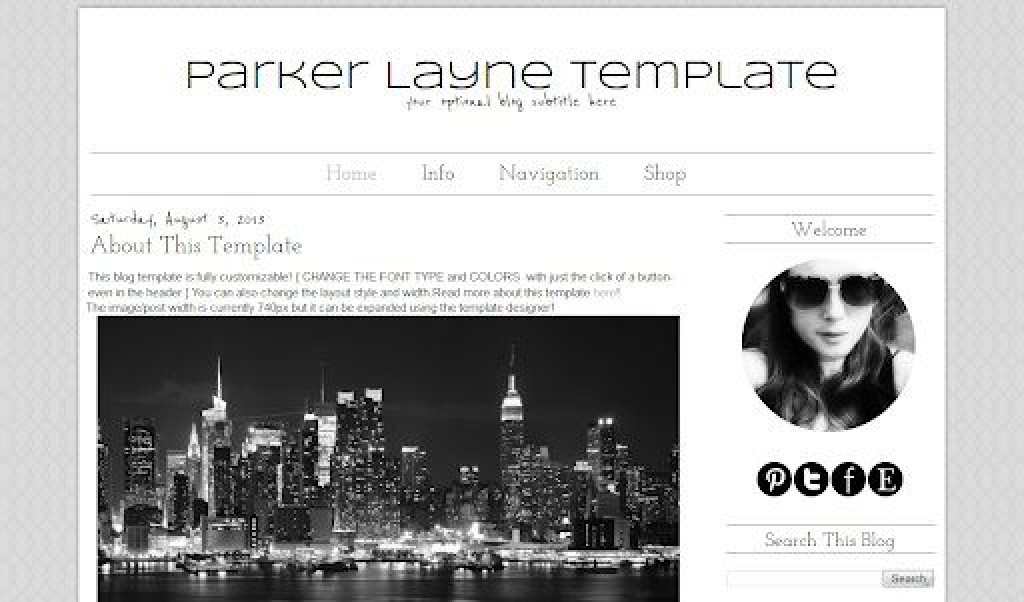 007 Impressive Simple Blogger Template Free High Definition  Blogspot Download BlogLarge