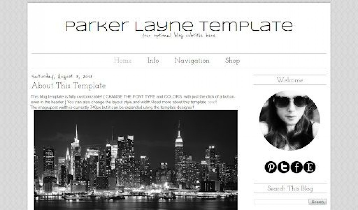 007 Impressive Simple Blogger Template Free High Definition  Blogspot Download Blog1400