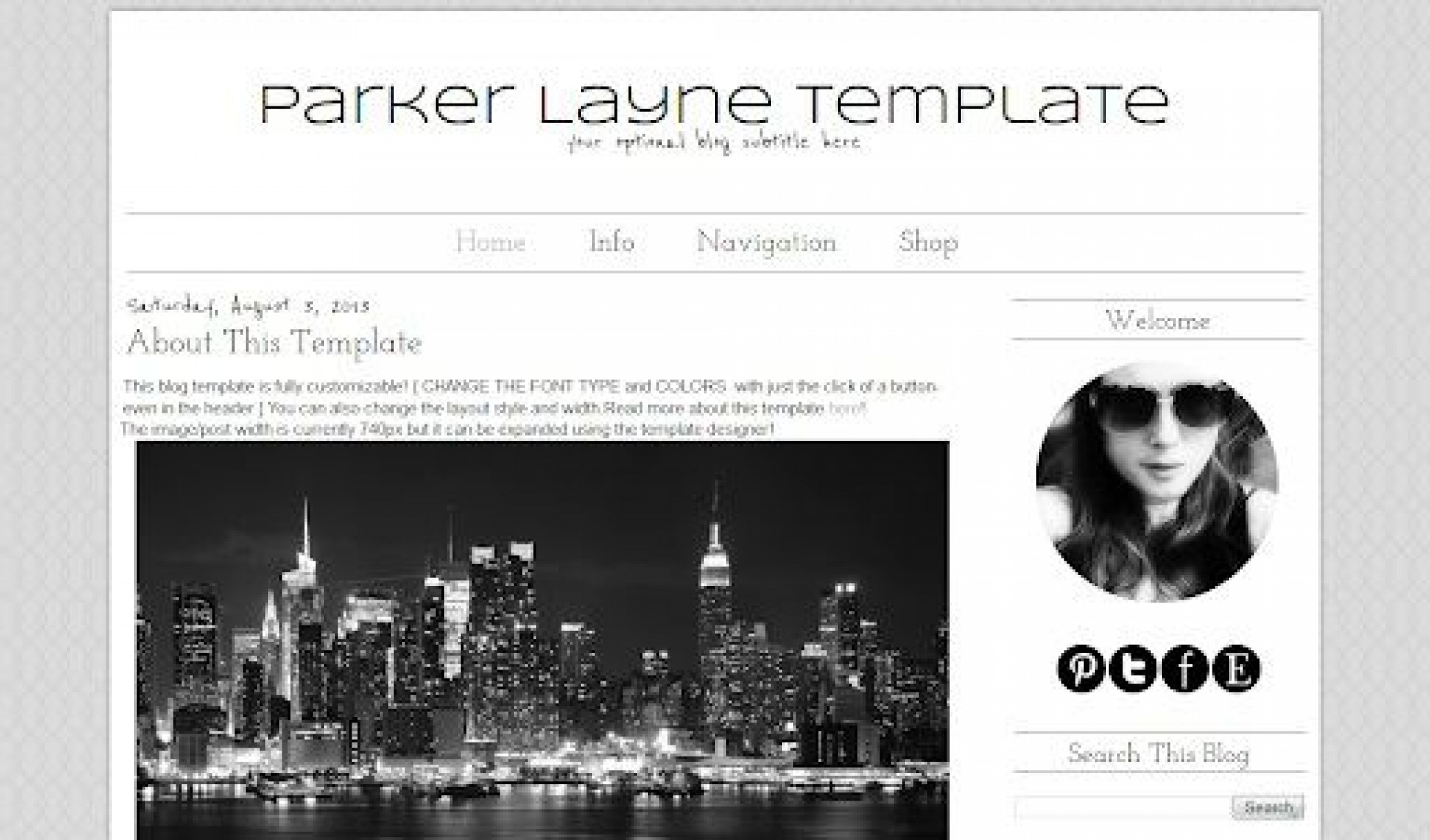 007 Impressive Simple Blogger Template Free High Definition  Blogspot Download Blog1920