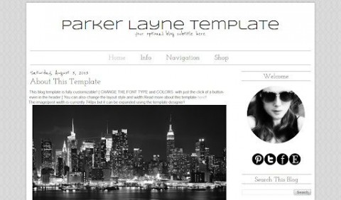007 Impressive Simple Blogger Template Free High Definition  Blogspot Download Blog480