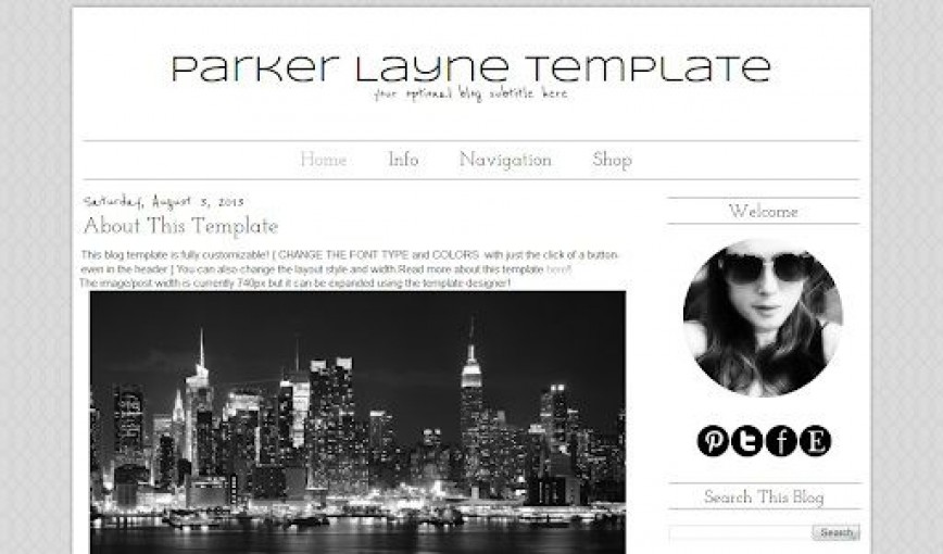 007 Impressive Simple Blogger Template Free High Definition  Blogspot Download Blog868