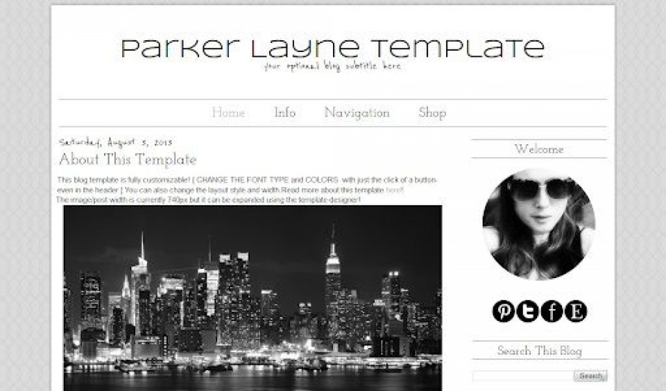 007 Impressive Simple Blogger Template Free High Definition  Blogspot Download Blog960