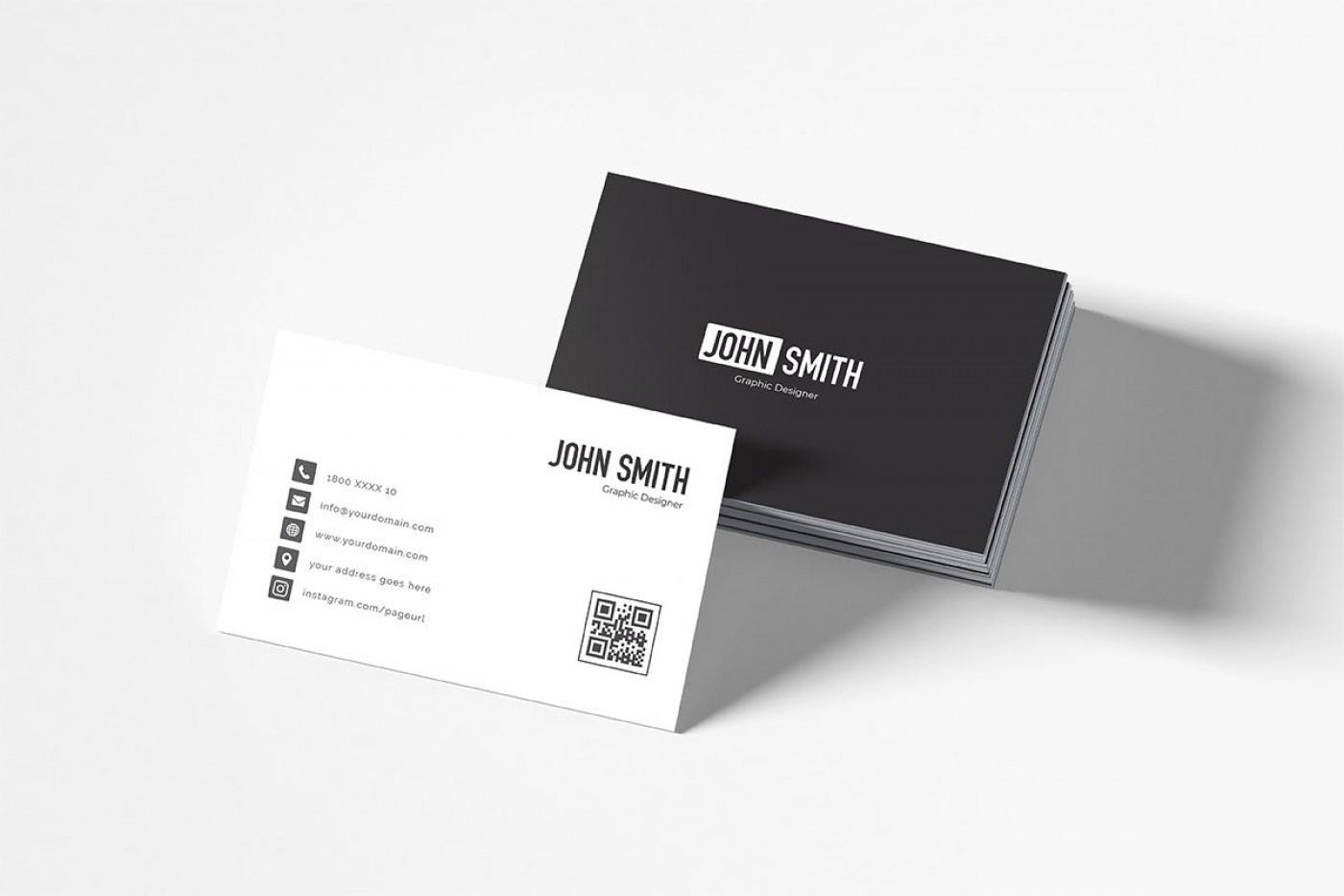 007 Impressive Simple Busines Card Template Free Highest Clarity  Minimalist Illustrator Design1400