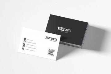 007 Impressive Simple Busines Card Template Free Highest Clarity  Minimalist Illustrator Design360
