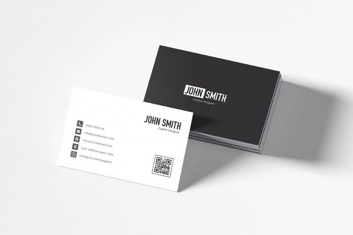 007 Impressive Simple Busines Card Template Free Highest Clarity  Minimalist Illustrator Design728