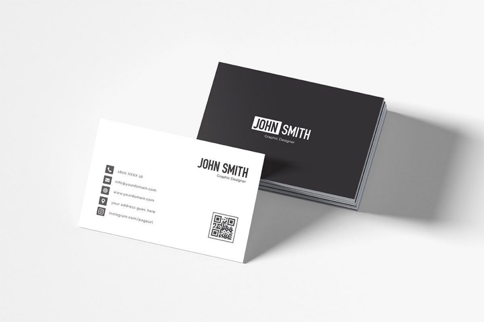 007 Impressive Simple Busines Card Template Free Highest Clarity  Minimalist Illustrator Design960