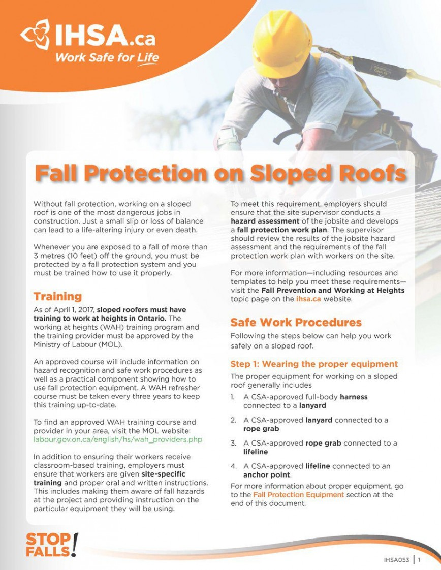 007 Impressive Site Specific Safety Plan Template For Roofing Inspiration