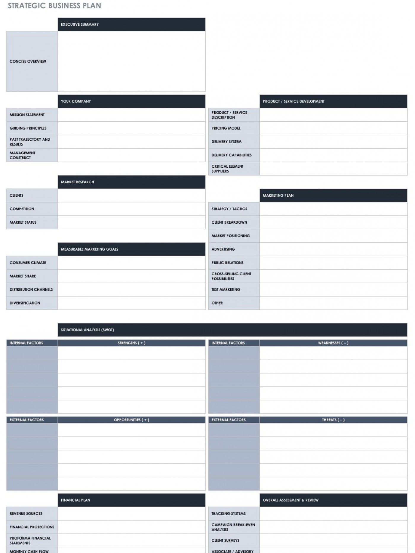 007 Impressive Strategic Busines Plan Template Highest Quality  Development Word Sample1400