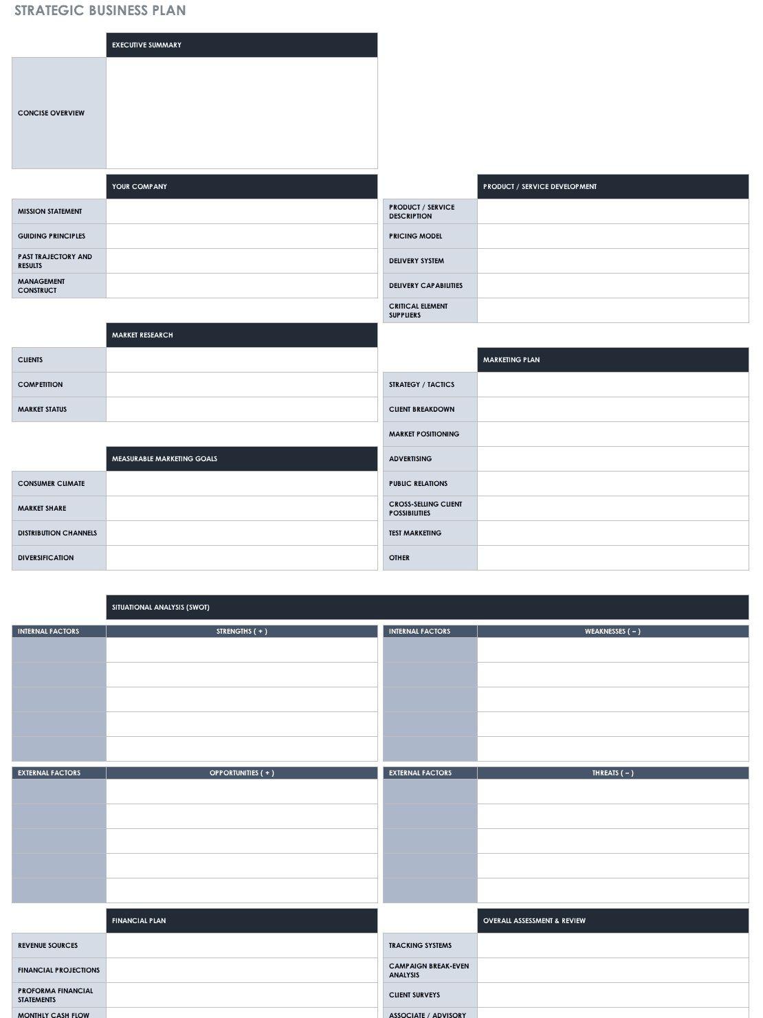 007 Impressive Strategic Busines Plan Template Highest Quality  Doc Word SampleFull