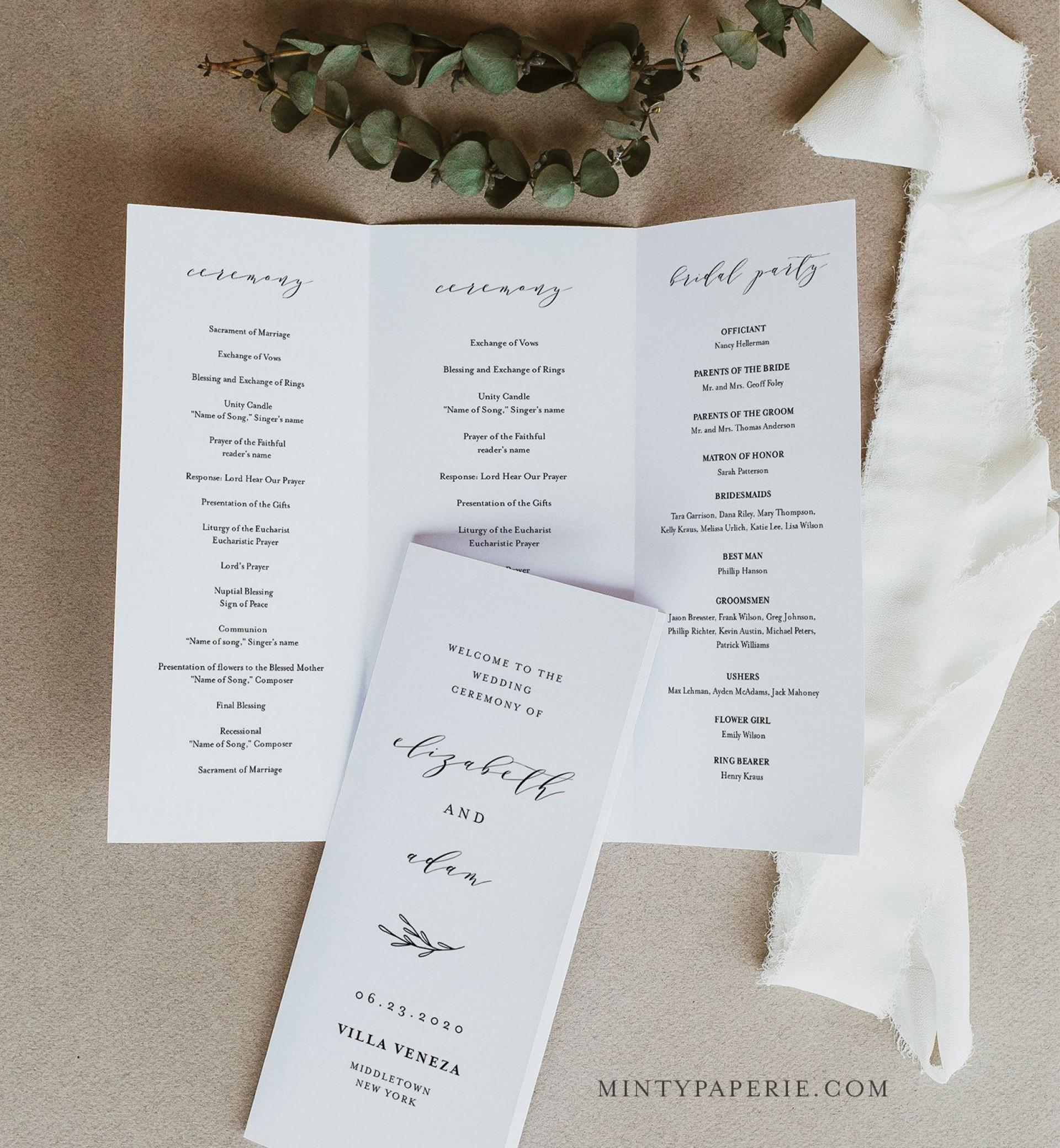 007 Impressive Trifold Wedding Program Template High Definition  Templates Tri Fold Tri-fold Publisher Free Foldable1920