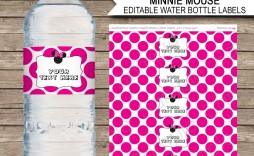 007 Impressive Water Bottle Label Template Example  Free Photoshop Baby Shower Psd