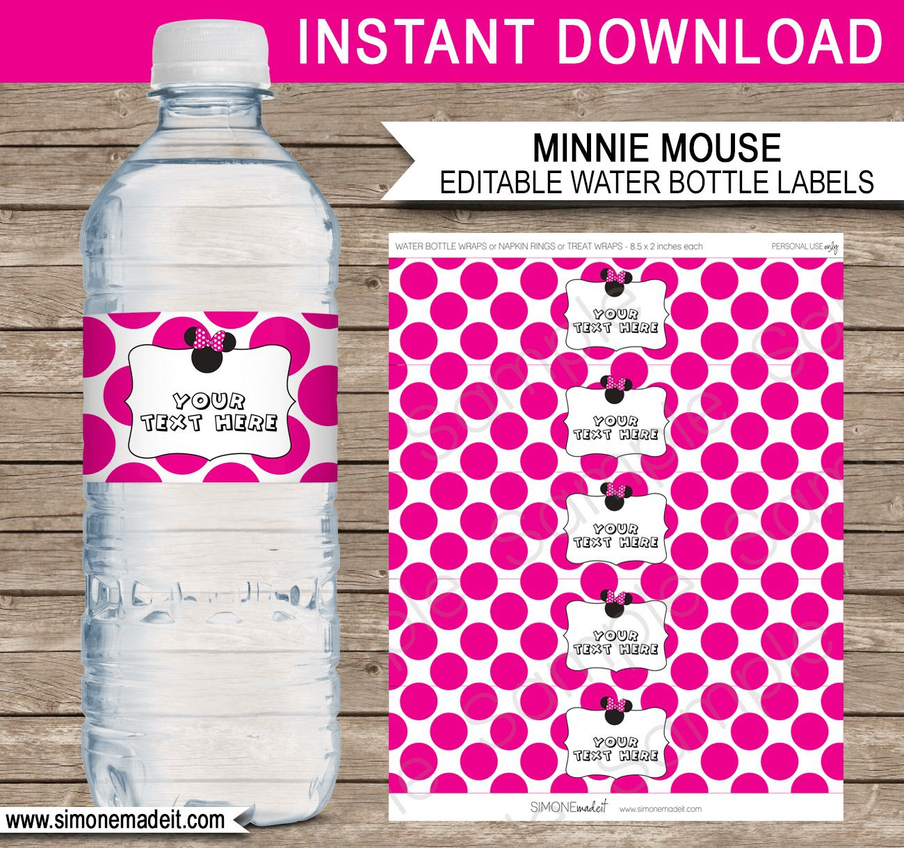 007 Impressive Water Bottle Label Template Example  Free Photoshop Baby Shower PsdFull