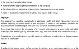 007 Impressive Workplace Incident Report Form Western Australia Idea