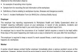007 Impressive Workplace Incident Report Form Western Australia Idea