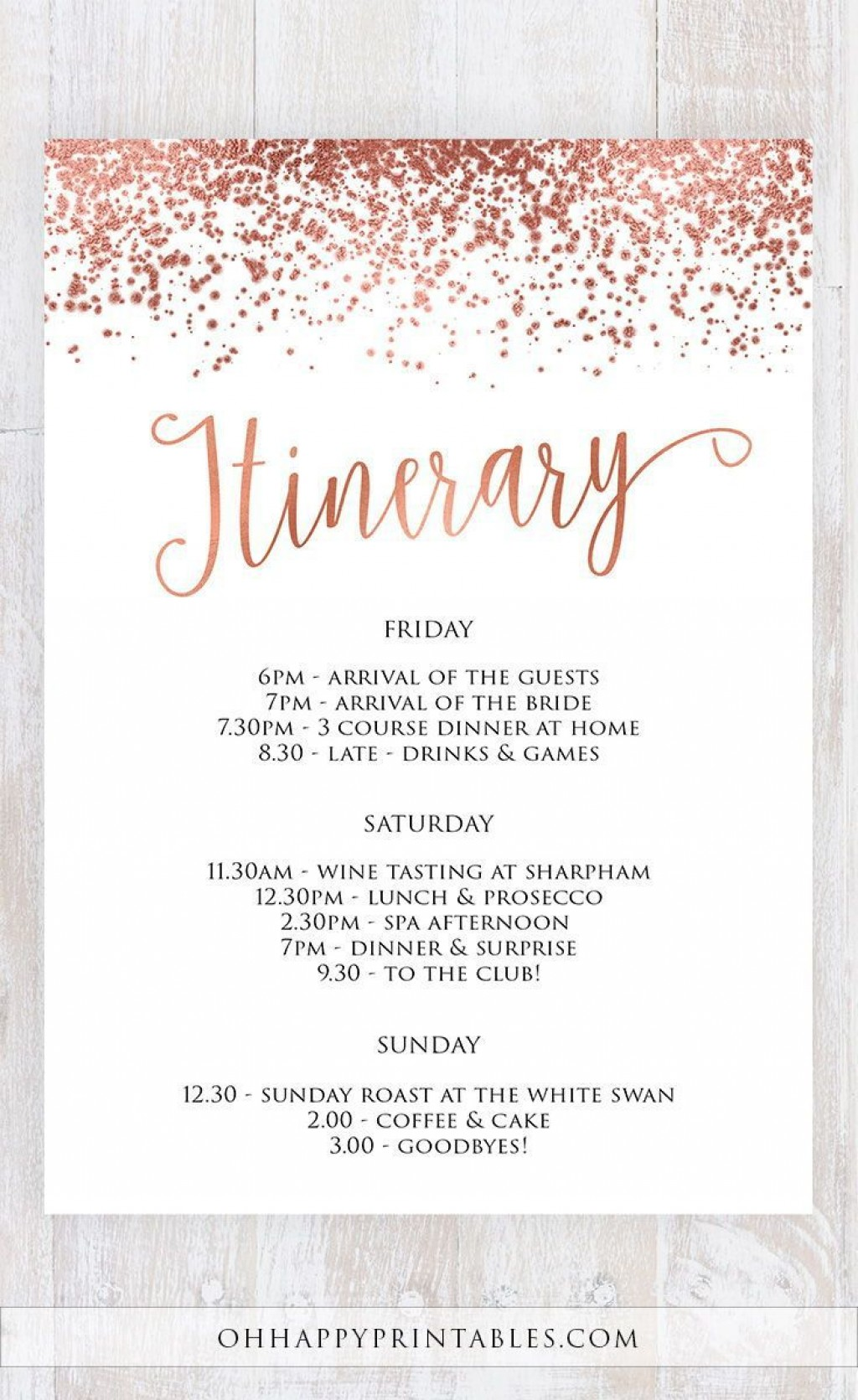 007 Incredible Bachelorette Party Itinerary Template Free Idea  DownloadLarge
