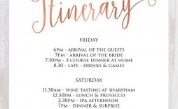 007 Incredible Bachelorette Party Itinerary Template Free Idea  Download