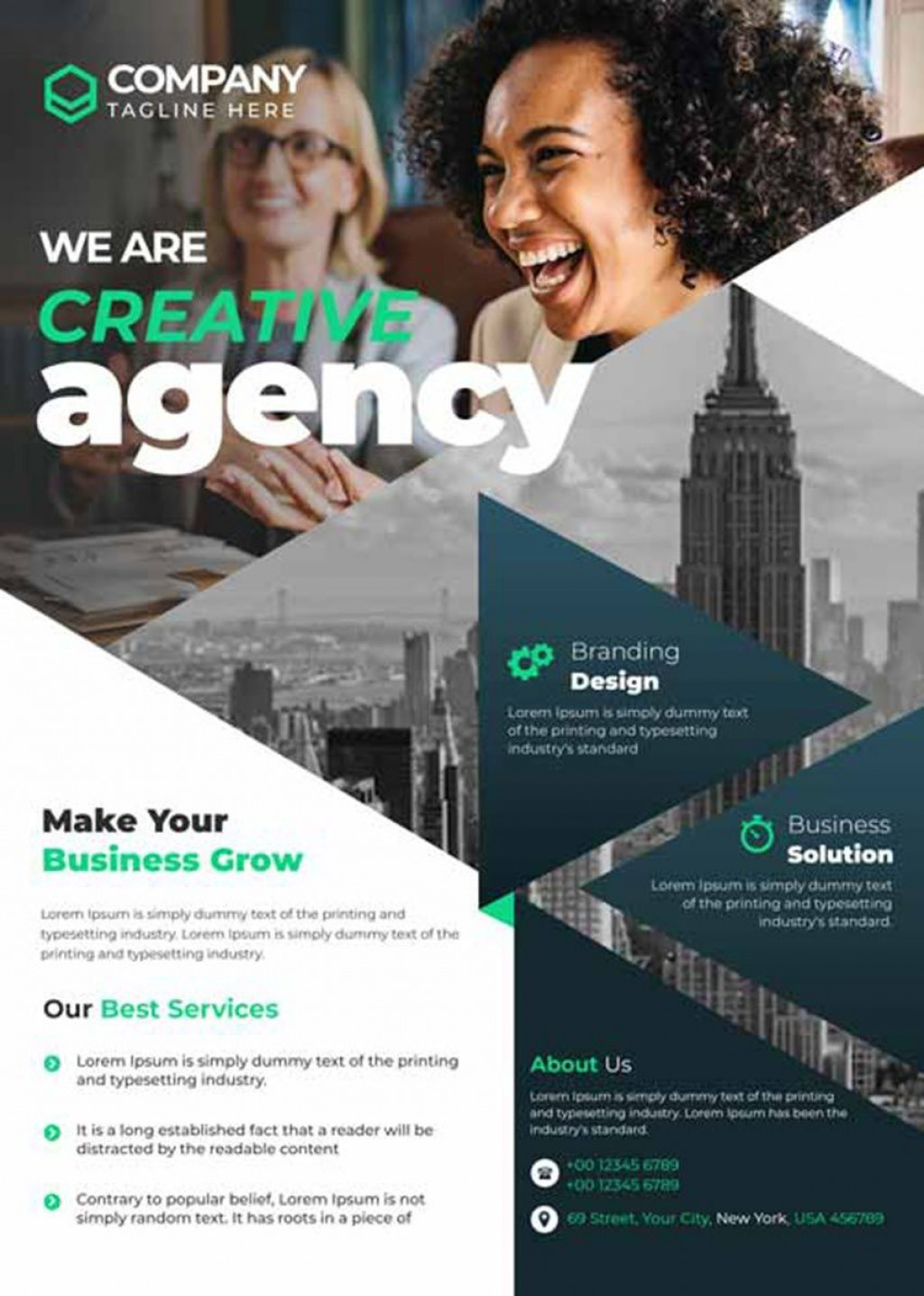 007 Incredible Busines Flyer Template Free Highest Quality  Psd 2018 Vector Brochure TrainingLarge