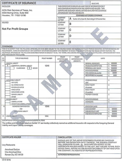 007 Incredible Certificate Of Insurance Template Image  Sample Pdf Csio Tracking Acces480