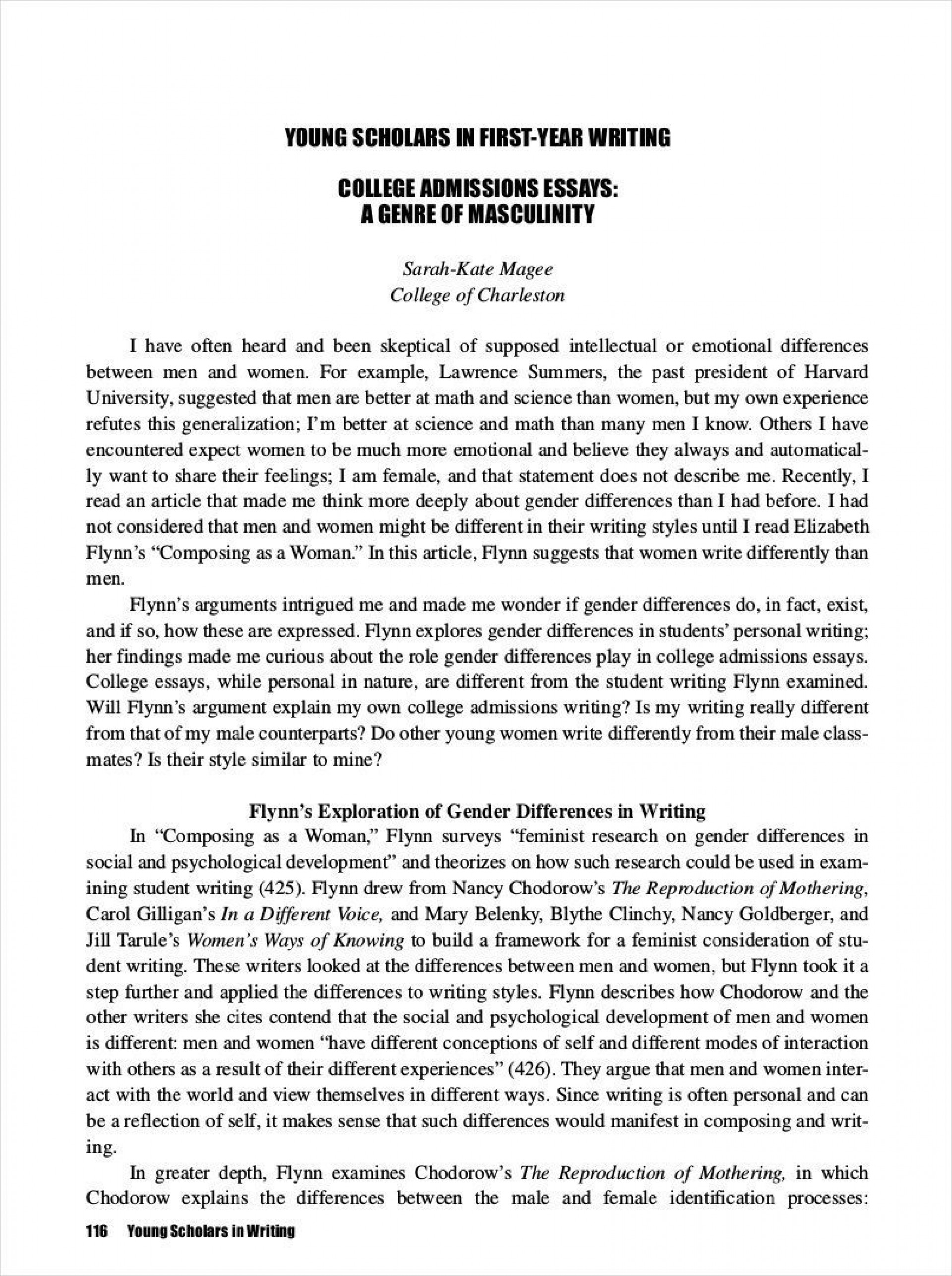 007 Incredible College Essay Format Example Highest Clarity  Examples Writing Application Sample Admission1920