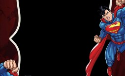 007 Incredible Editable Superhero Invitation Template Free Highest Quality
