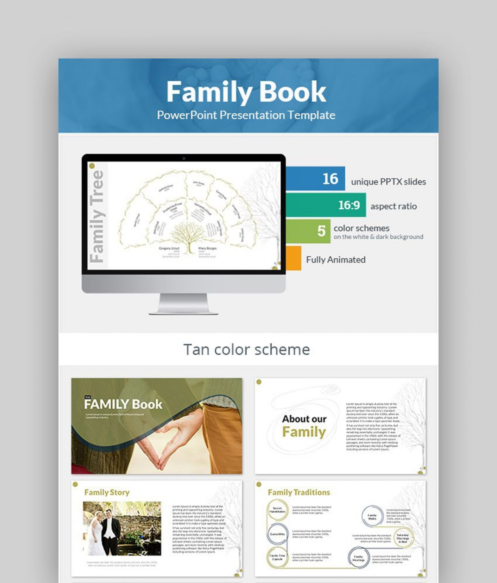 007 Incredible Family Tree Book Template Free Concept  History1920