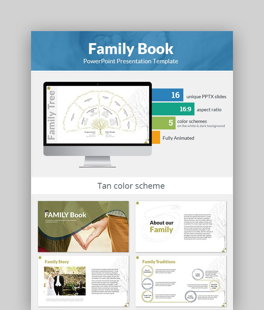 007 Incredible Family Tree Book Template Free Concept  HistoryFull