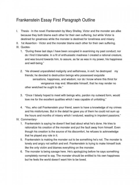 007 Incredible Frankenstein Essay Idea  Critical Pdf Question Who I The Real Monster480