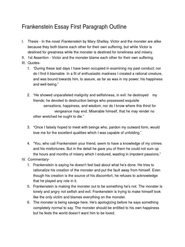 007 Incredible Frankenstein Essay Idea  Critical Pdf Question Who I The Real MonsterFull