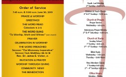 007 Incredible Free Church Program Template Highest Quality  Bulletin Word Editable
