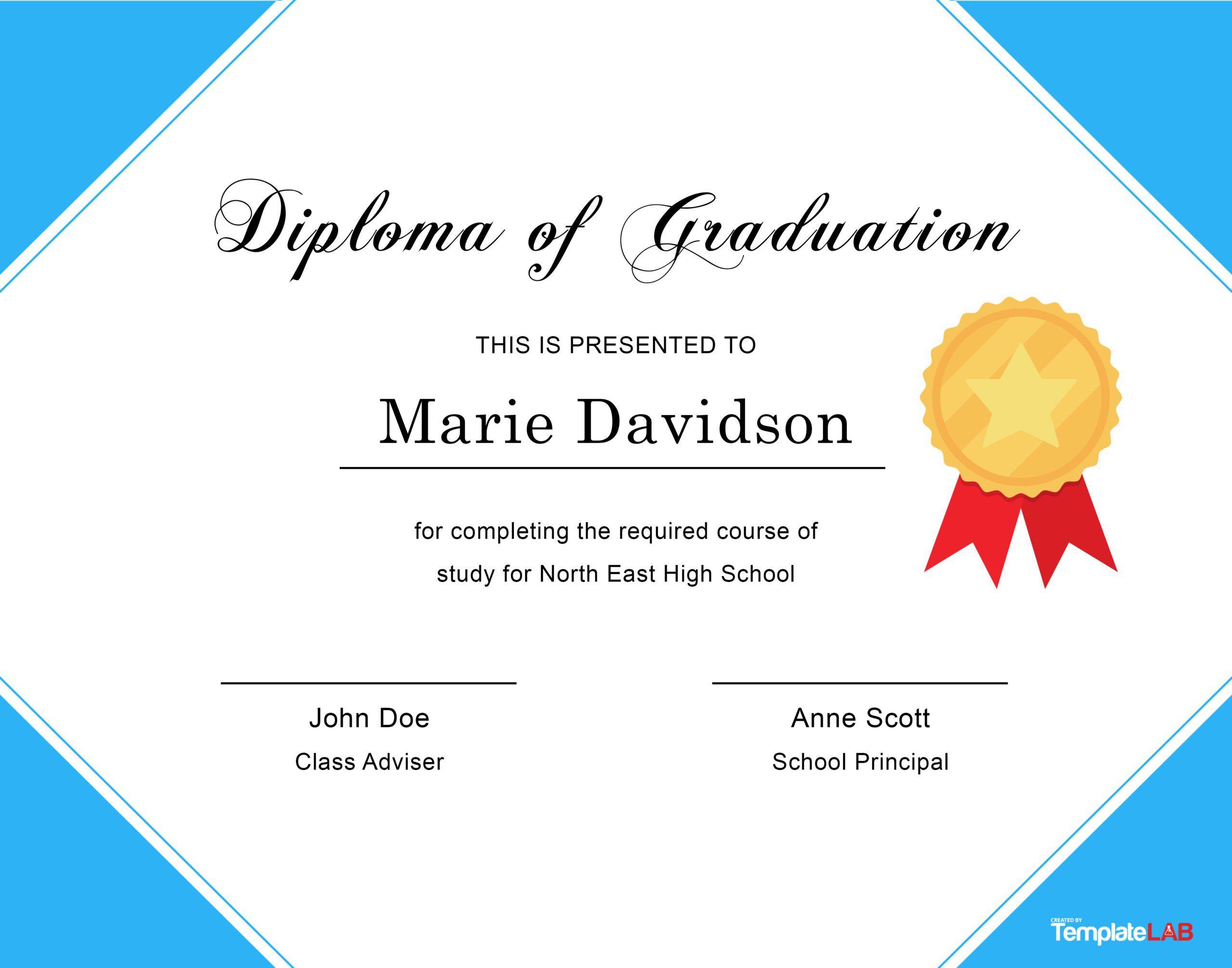 007 Incredible Free Editable High School Diploma Template Sample  Templates Printable With Seal FillableFull