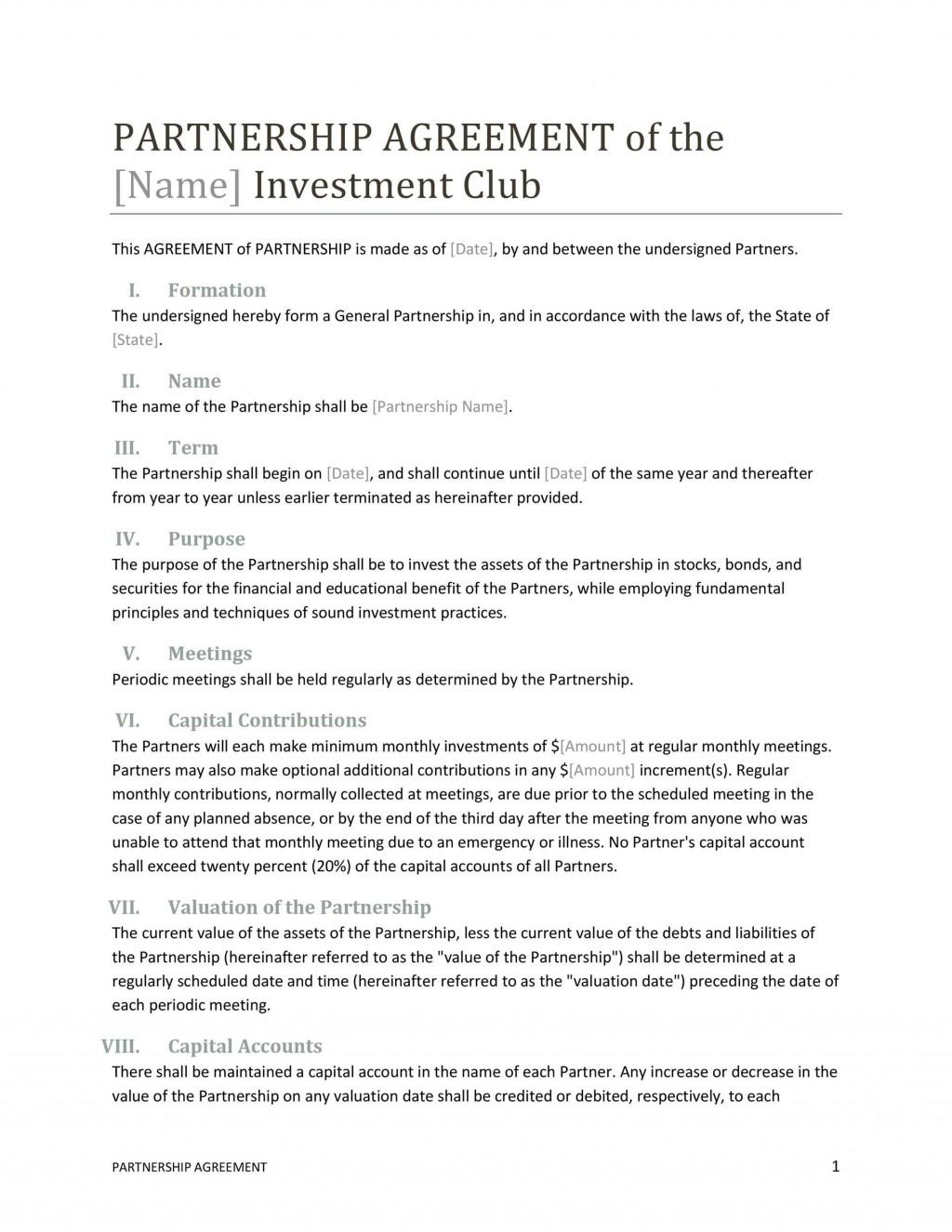 007 Incredible Free Partnership Agreement Template Highest Quality  Uk Malaysia LlpLarge