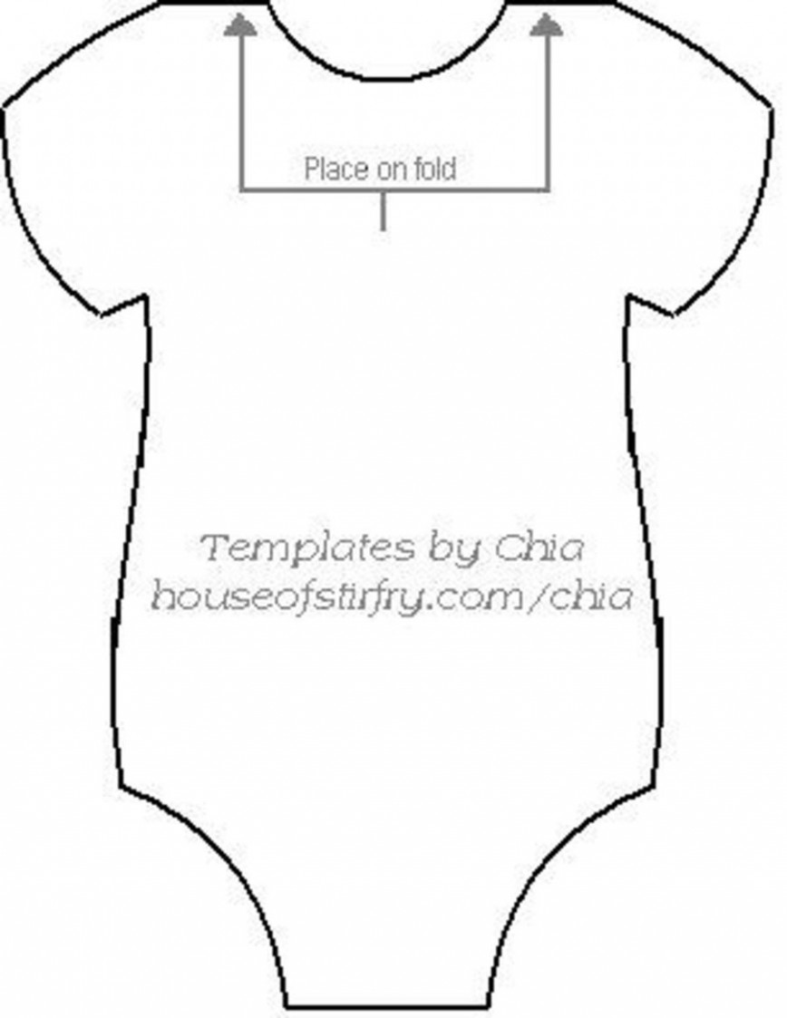 007 Incredible Free Printable Baby Onesie Template Highest Quality  Girl Card868