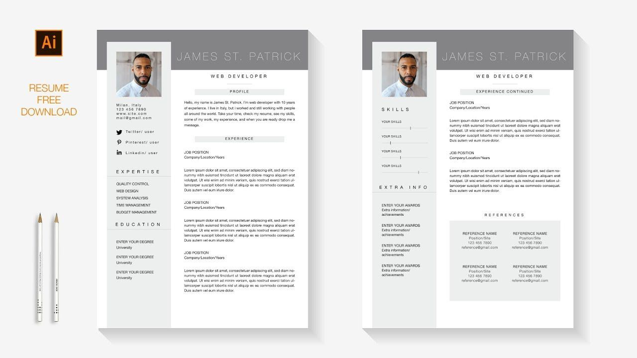 007 Incredible Free Resume Template For Page High Definition  Pages Apple MacFull