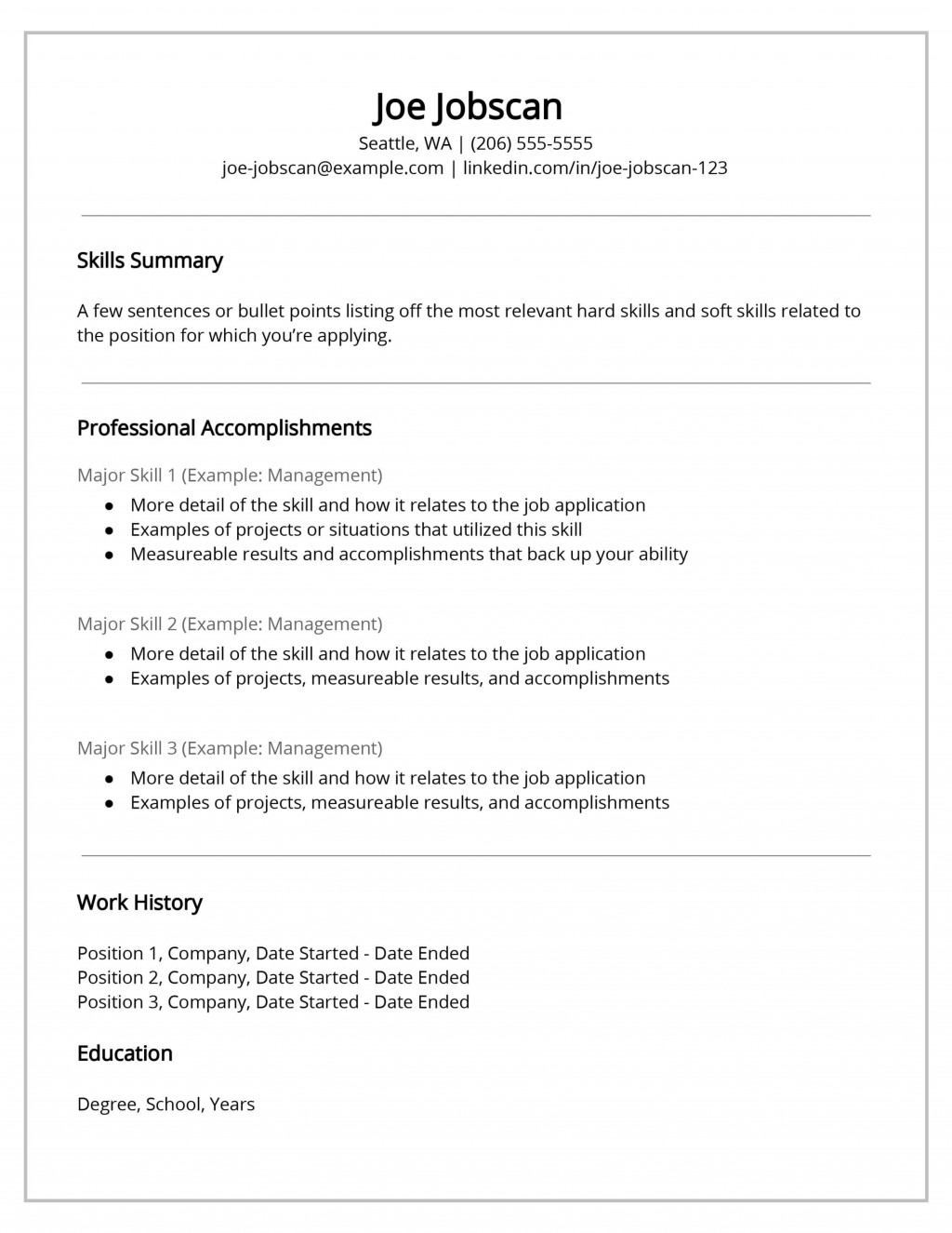 007 Incredible Functional Resume Template Free Example Large