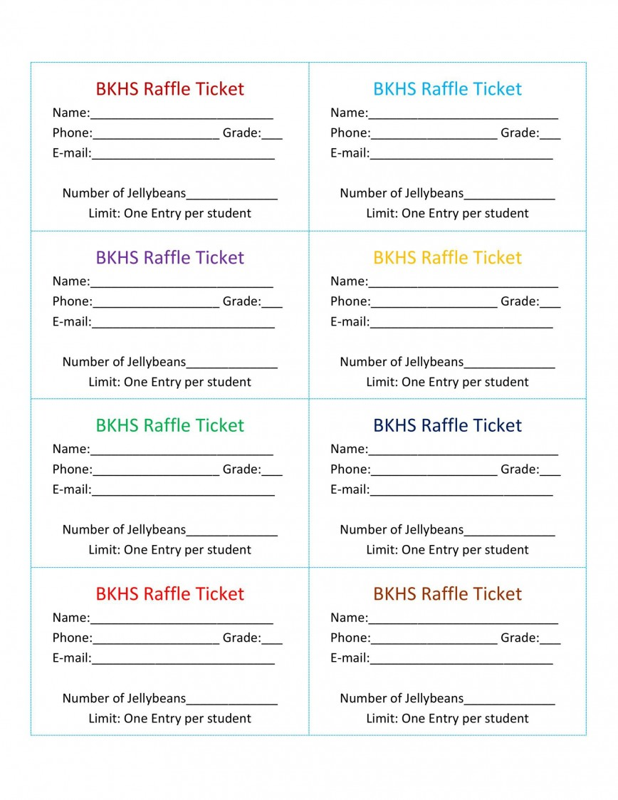 007 Incredible Fundraiser Ticket Template Free High Def  Car Wash Download