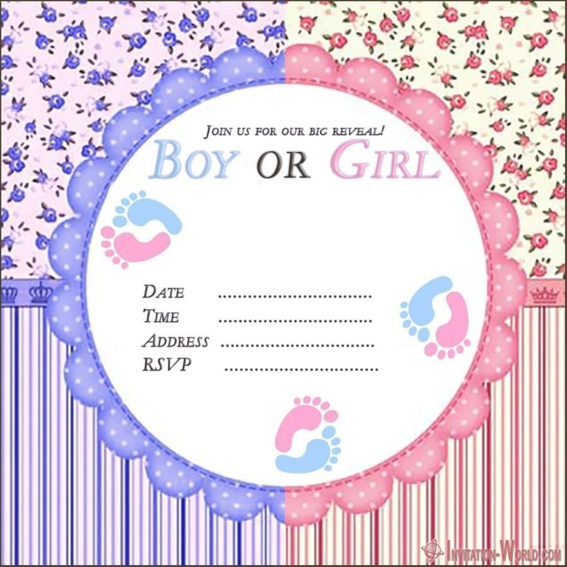 007 Incredible Gender Reveal Invitation Template Idea  Templates Party Free Printable Maker1920