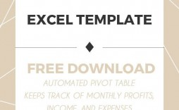 007 Incredible Monthly Busines Expense Template Excel Free Photo