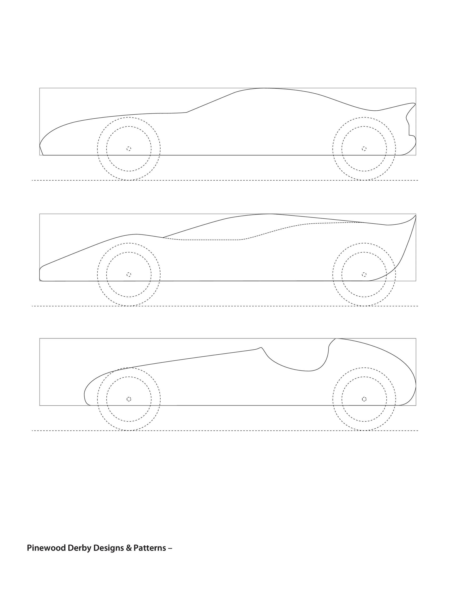 007 Incredible Pinewood Derby Car Design Template High Def  Fast WedgeFull