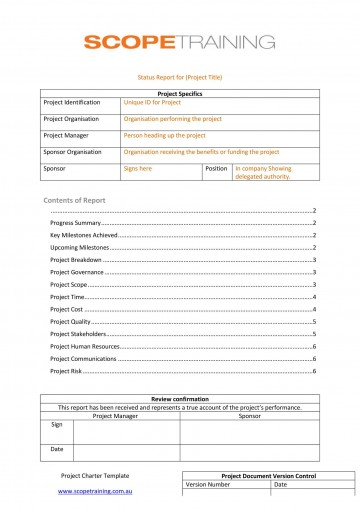 007 Incredible Project Management Progres Report Template Idea  Word Example Statu Template+powerpoint360