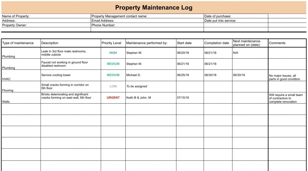 007 Incredible Property Management Maintenance Checklist Template High Def  FreeLarge