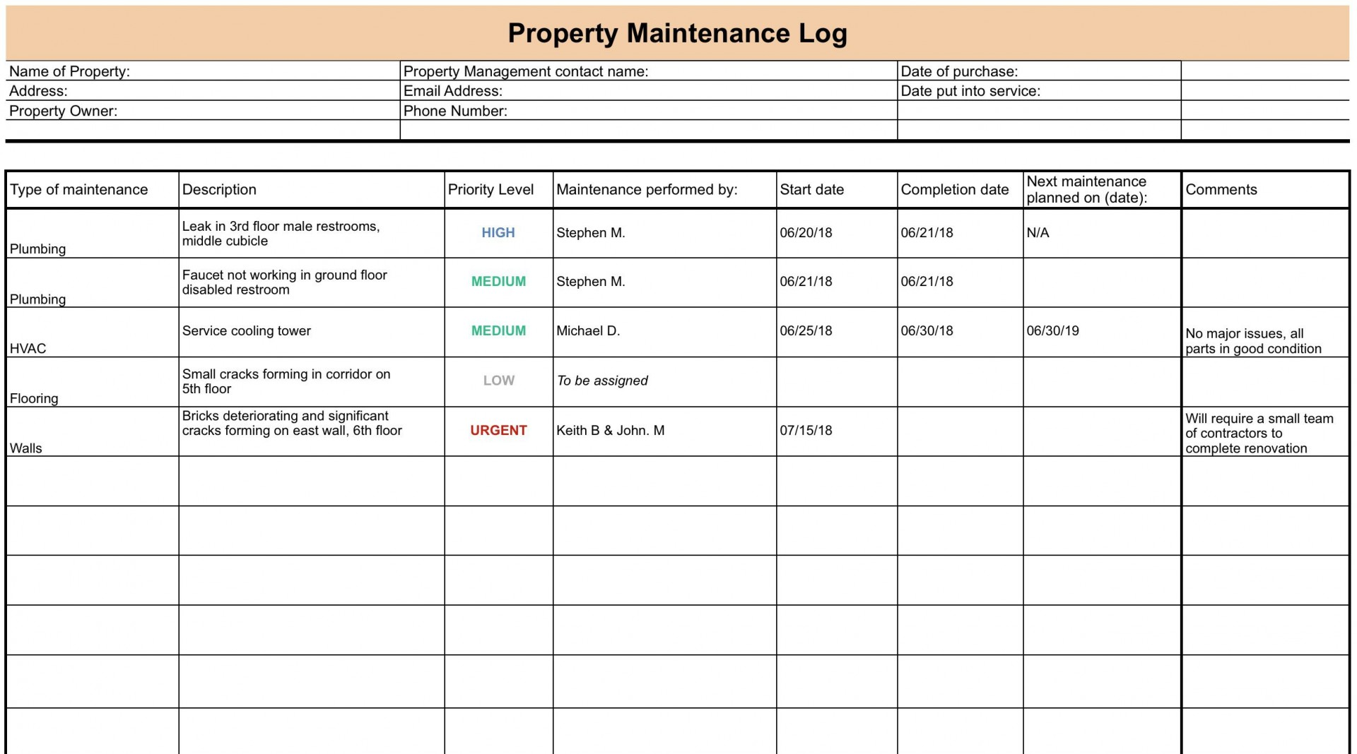007 Incredible Property Management Maintenance Checklist Template High Def  Free1920