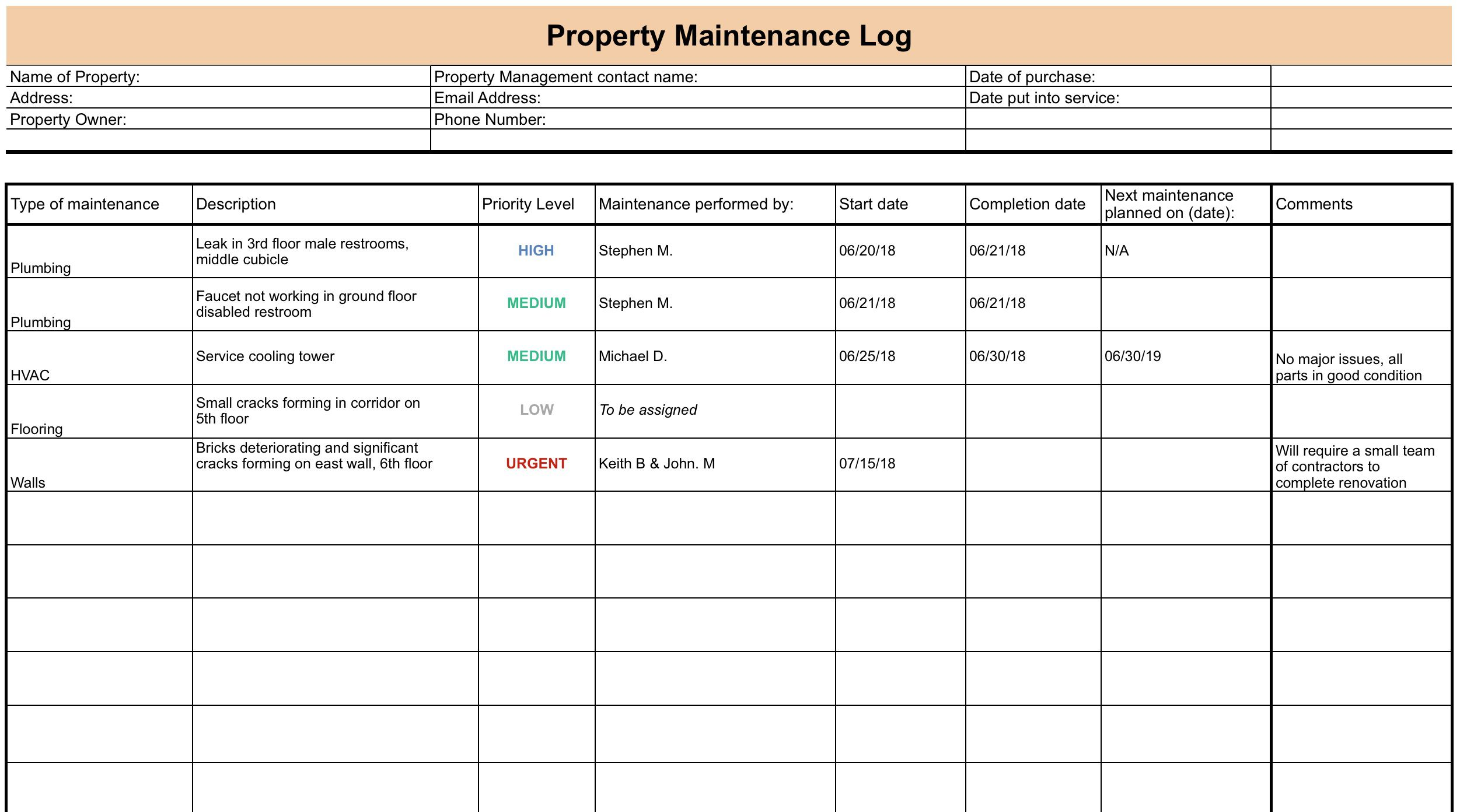007 Incredible Property Management Maintenance Checklist Template High Def  FreeFull