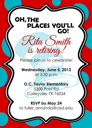 007 Incredible Retirement Party Invite Template Word Free Picture 320