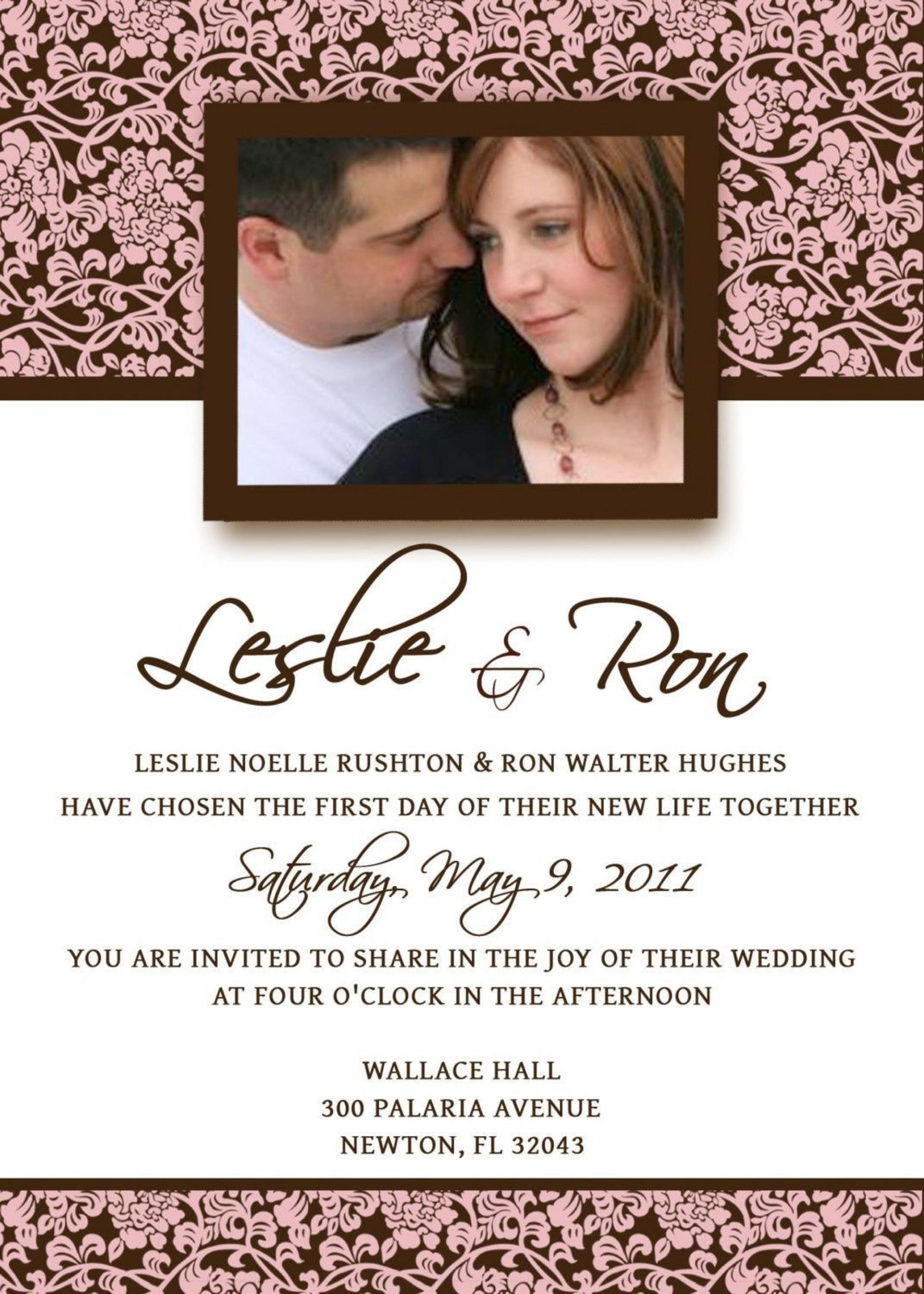 007 Incredible Sample Wedding Invitation Template Free Download Image  Wording1920