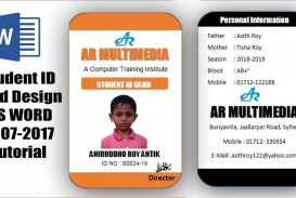 007 Incredible Student Id Card Template Inspiration  Free Psd Download Word School