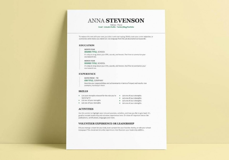 007 Incredible Student Resume Template Word Idea  Download College Microsoft Free960